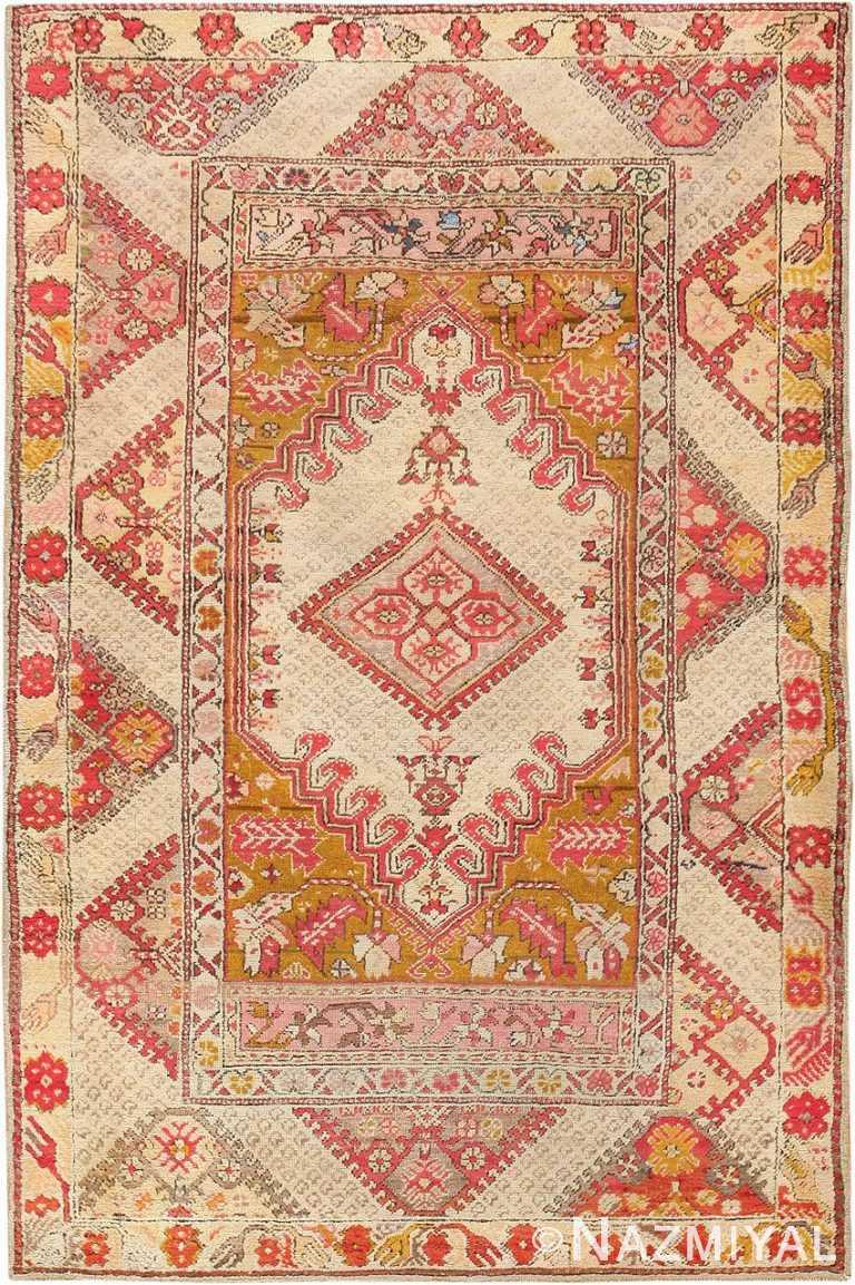 Antique Tribal Turkish Ghiordes Rug 47656 Nazmiyal