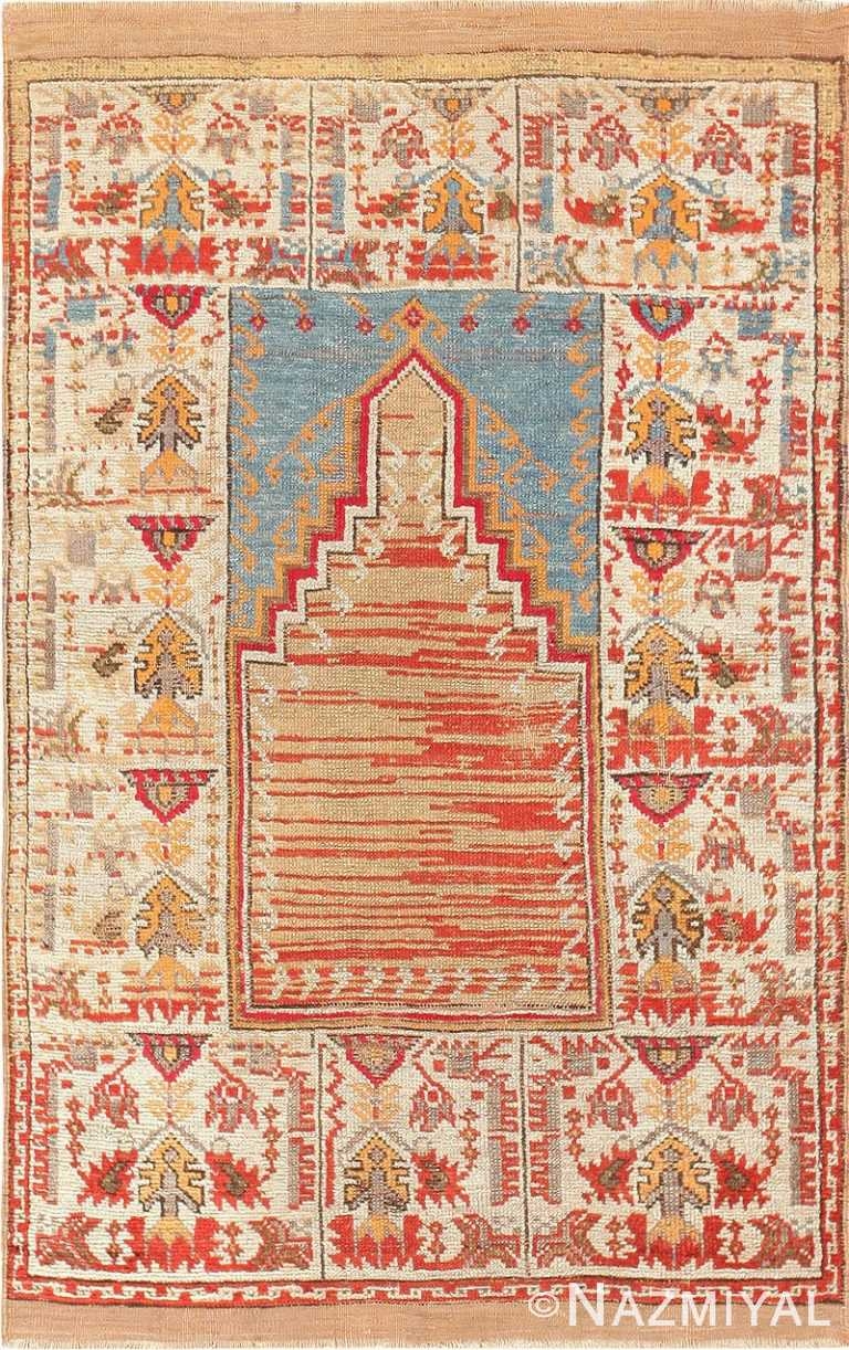 Antique Turkish Milas Prayer Rug 47592 By Nazmiyal