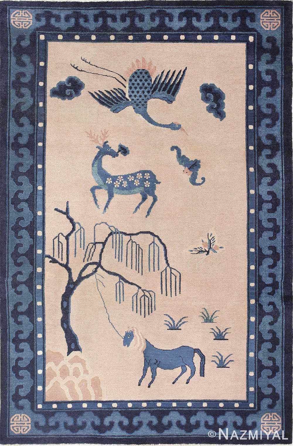 Beautiful Antique Chinese Rug 47558 by Nazmiyal