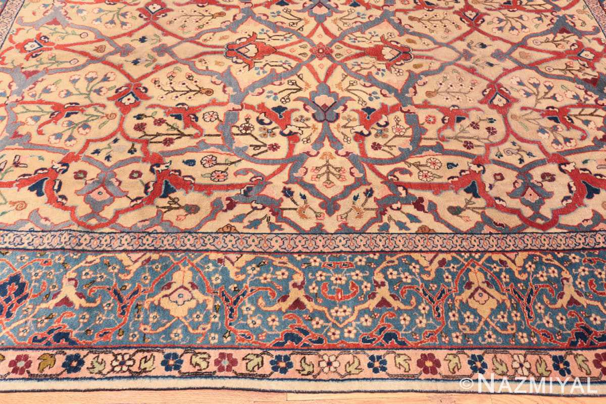 Border Antique Persian Tabriz rug 47432 by Nazmiyal