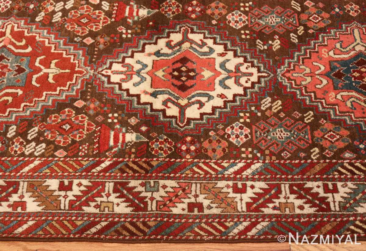 Border Tribal Antique Caucasian Kazak runner rug 47653 by Nazmiyal