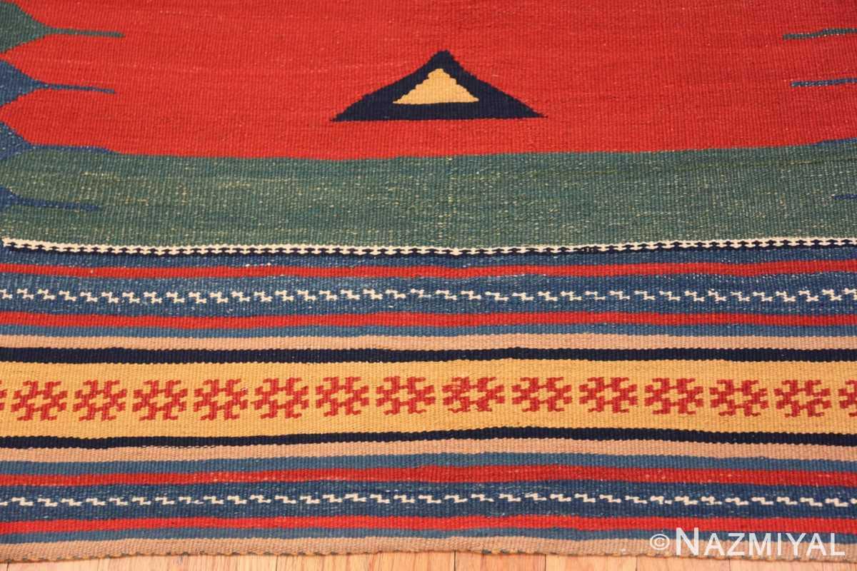 Border Vintage Persian Gashgai tribal rug 47620 by Nazmiyal