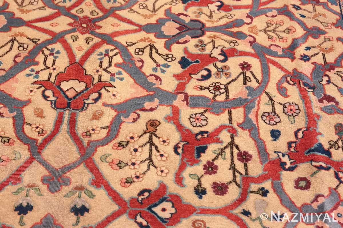 Close-up Antique Persian Tabriz rug 47432 by Nazmiyal
