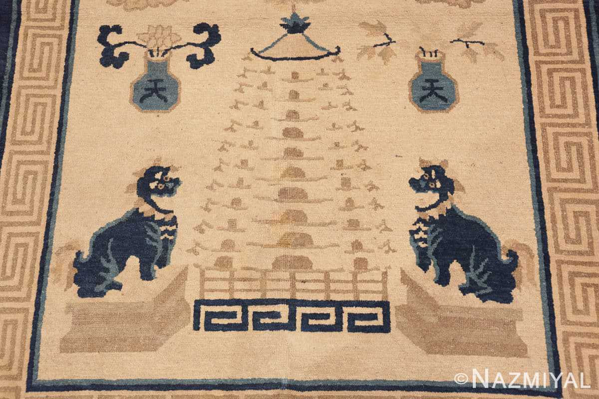 Close-up Beautiful Antique Dragon Chinese rug 47472 by Nazmiyal