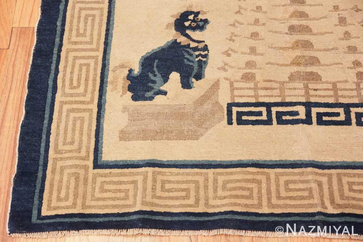 Corner Beautiful Antique Dragon Chinese rug 47472 by Nazmiyal