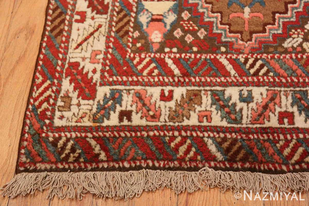 Corner Tribal Antique Caucasian Kazak runner rug 47653 by Nazmiyal