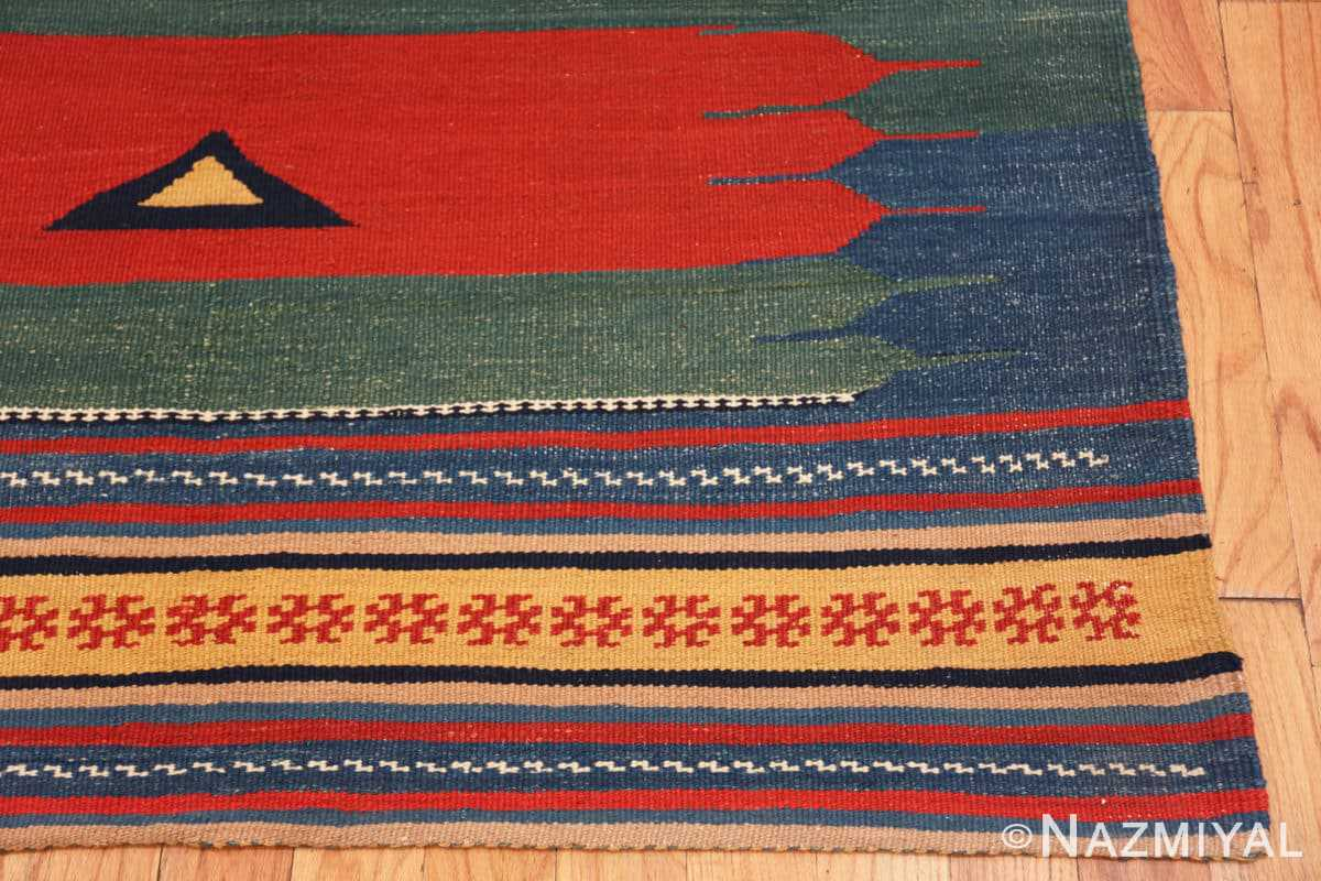 Corner Vintage Persian Gashgai tribal rug 47620 by Nazmiyal
