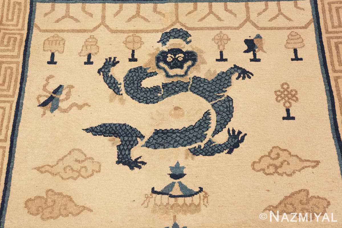 Detail Beautiful Antique Dragon Chinese rug 47472 by Nazmiyal