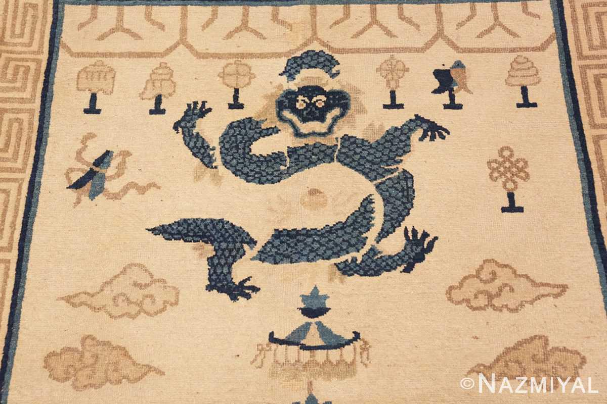 Detail Beautiful Antique Dragon Chinese rug 47472 by Nazmiyal