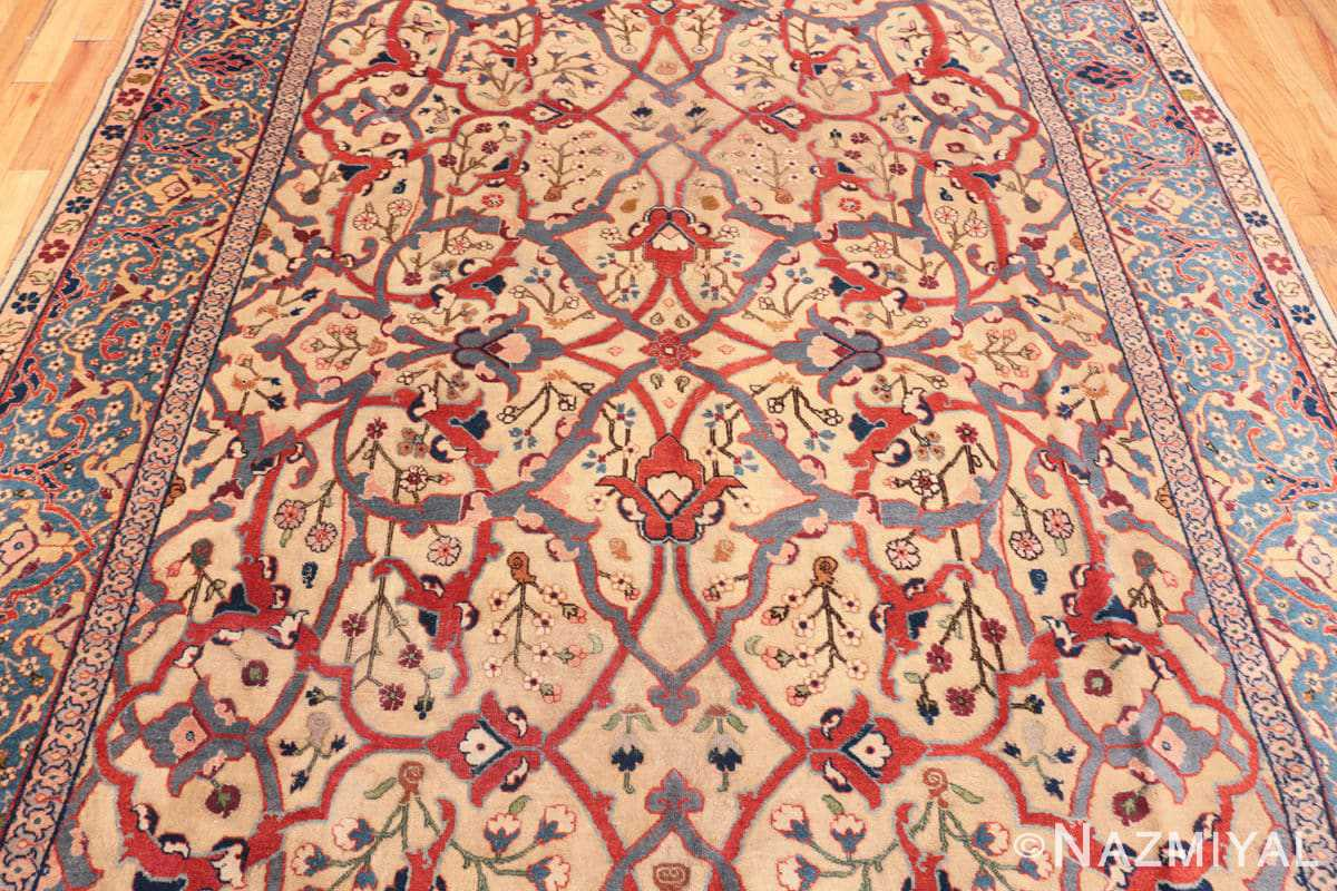Field Antique Persian Tabriz rug 47432 by Nazmiyal