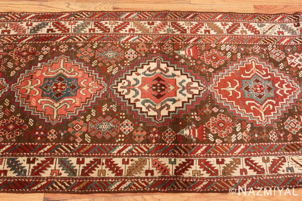 Field Tribal Antique Caucasian Kazak runner rug 47653 by Nazmiyal