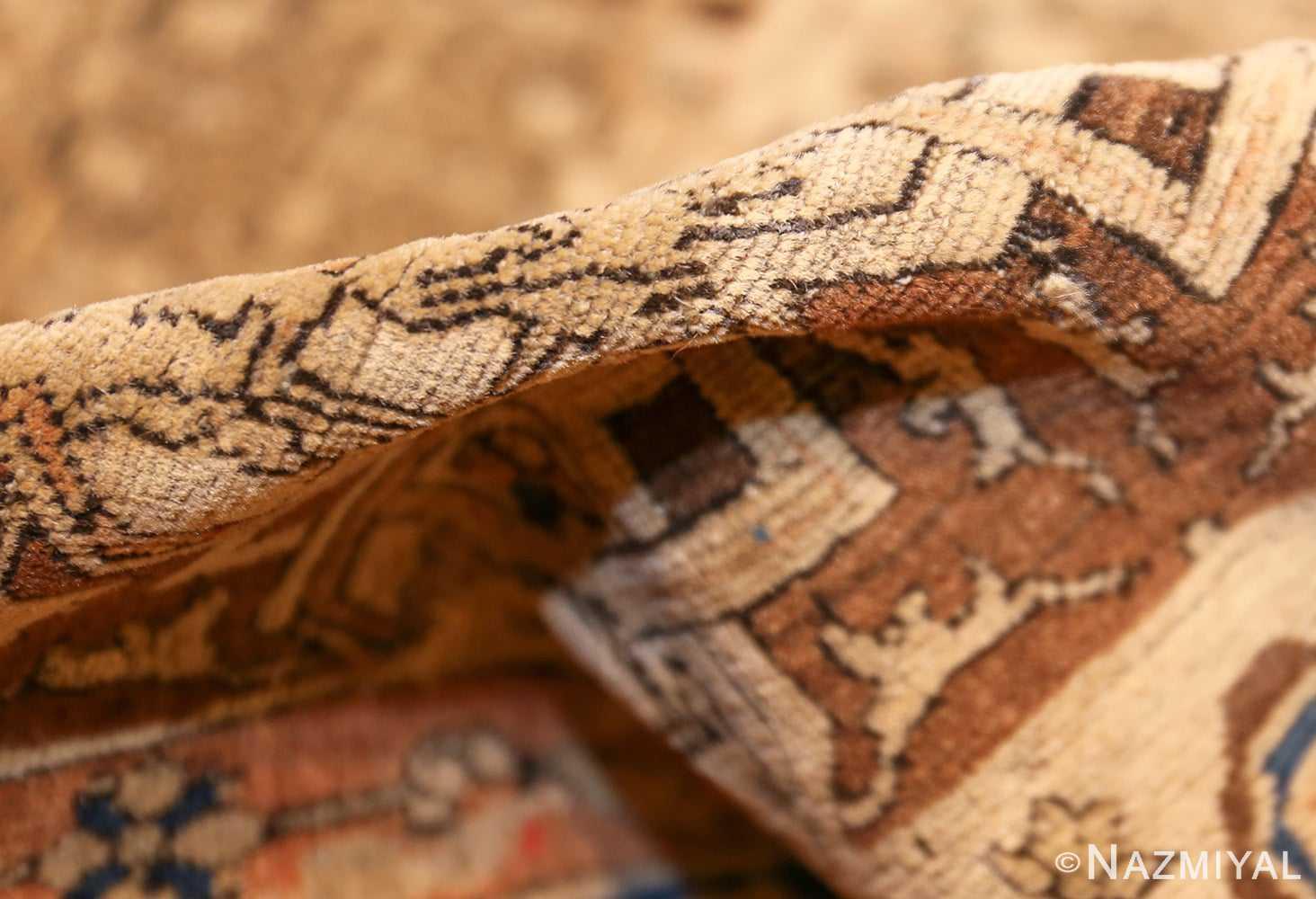 fine antique persian mohtashem kashan rug 47483 pile Nazmiyal