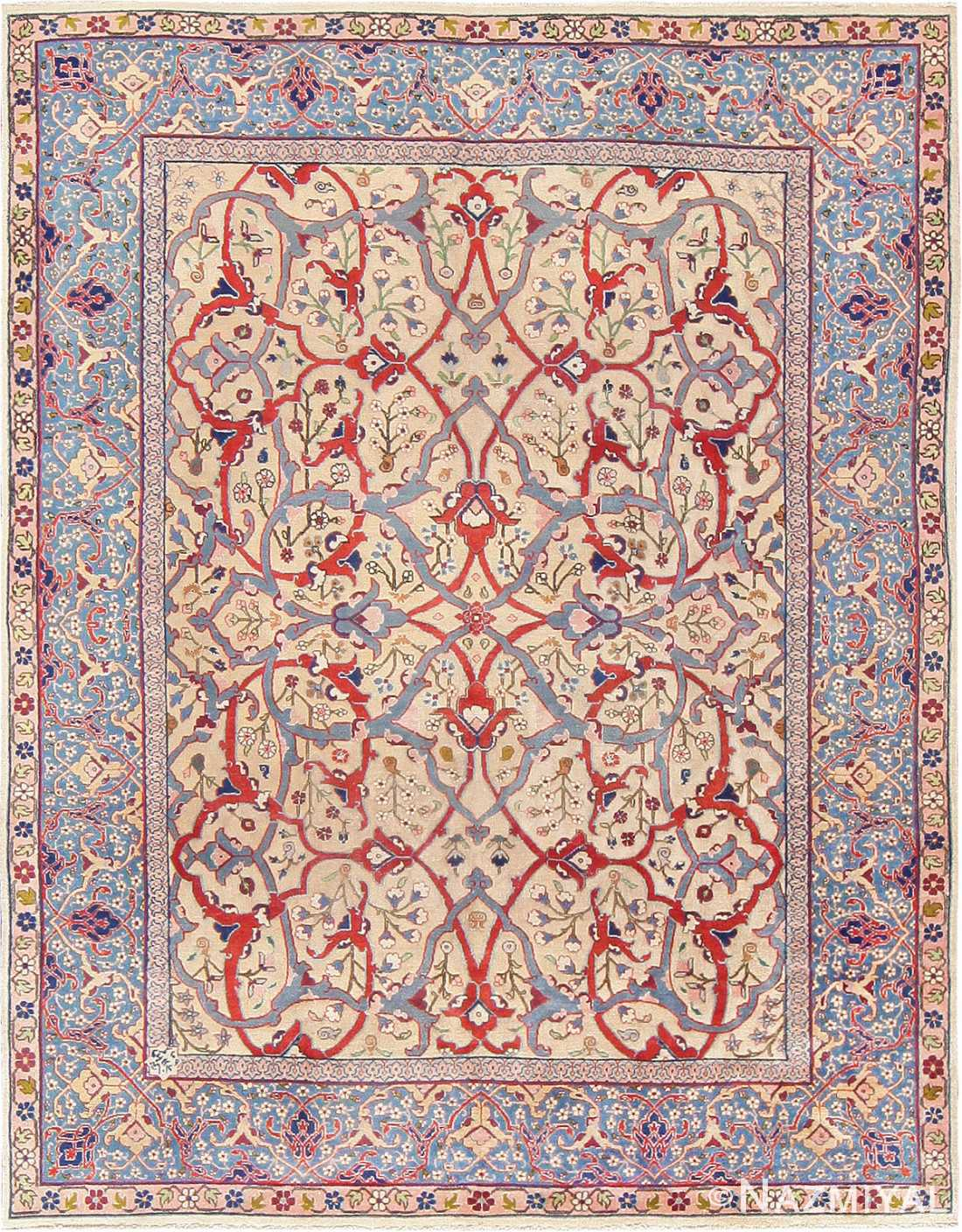 Fine Antique Persian Tabriz Rug 47432 Nazmiyal