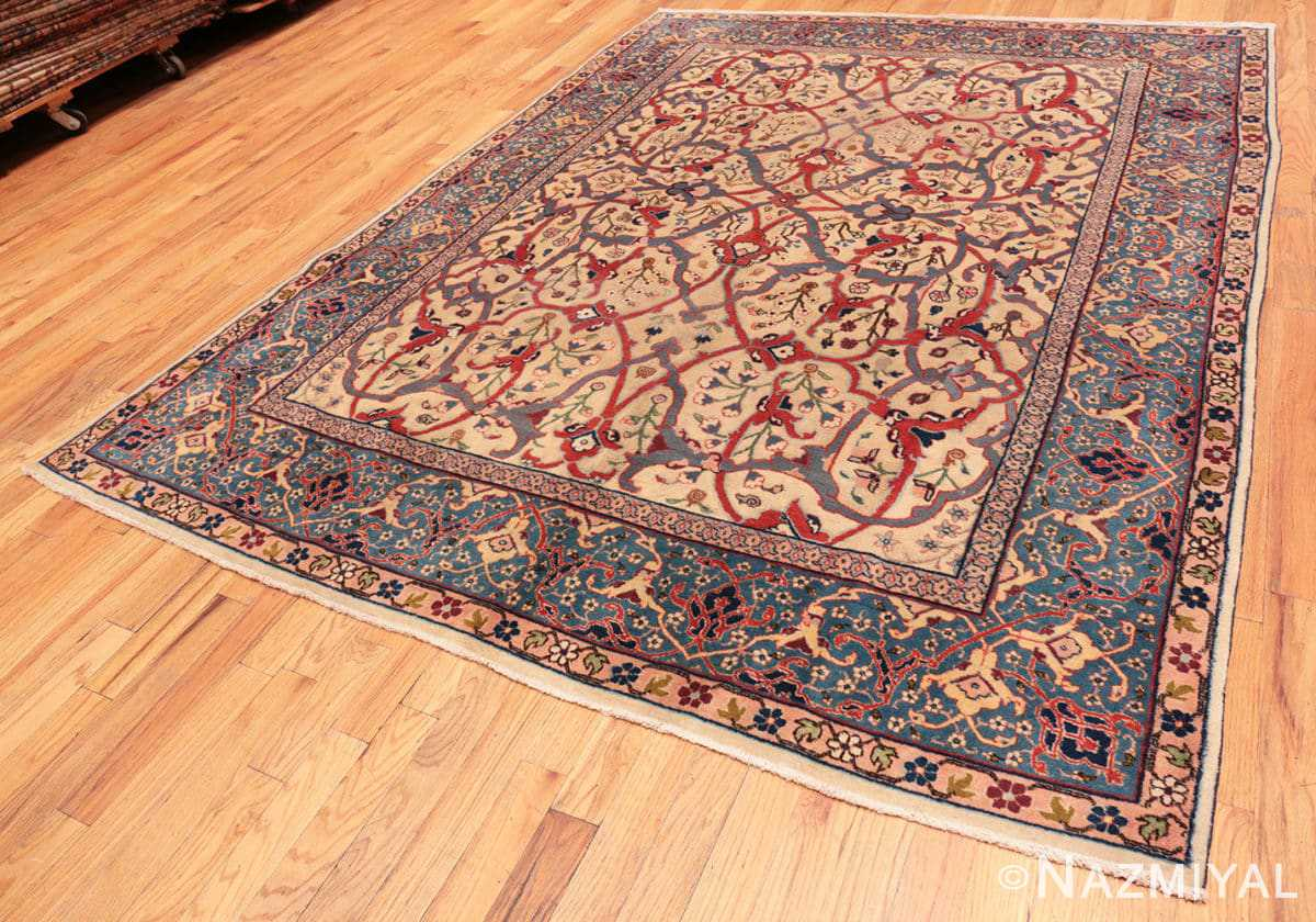 Full Antique Persian Tabriz rug 47432 by Nazmiyal