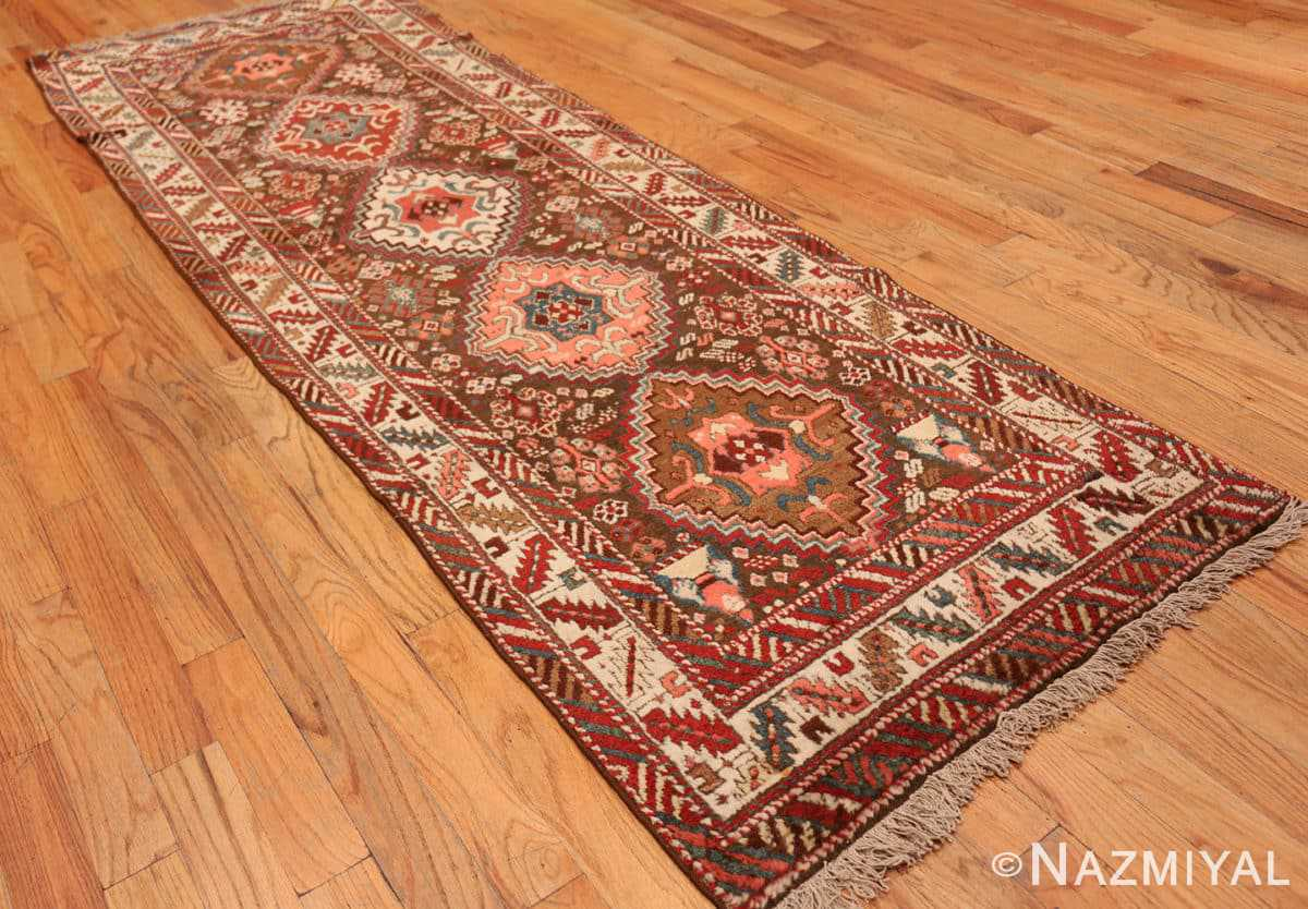 Full Tribal Antique Caucasian Kazak runner rug 47653 by Nazmiyal