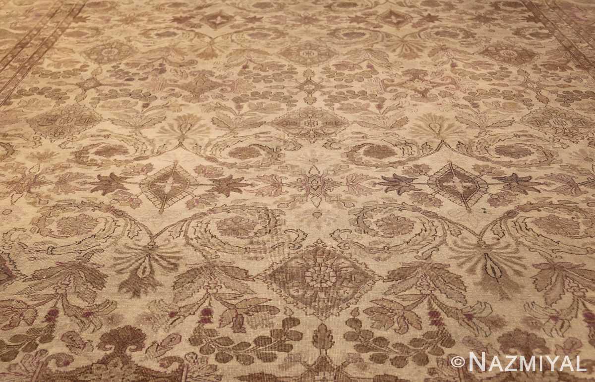 ivory background antique indian amritsar rug 47438 field Nazmiyal