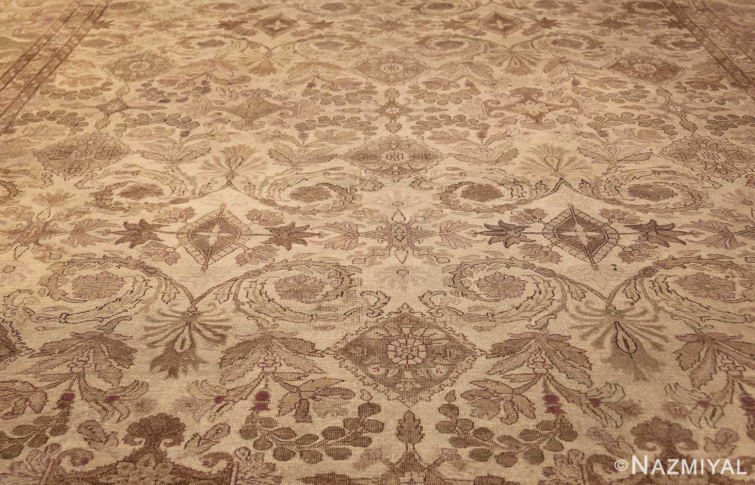 Ivory Background Antique Indian Amritsar Rug 47438 By