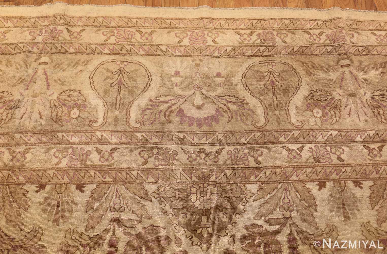 ivory background antique indian amritsar rug 47438 top Nazmiyal