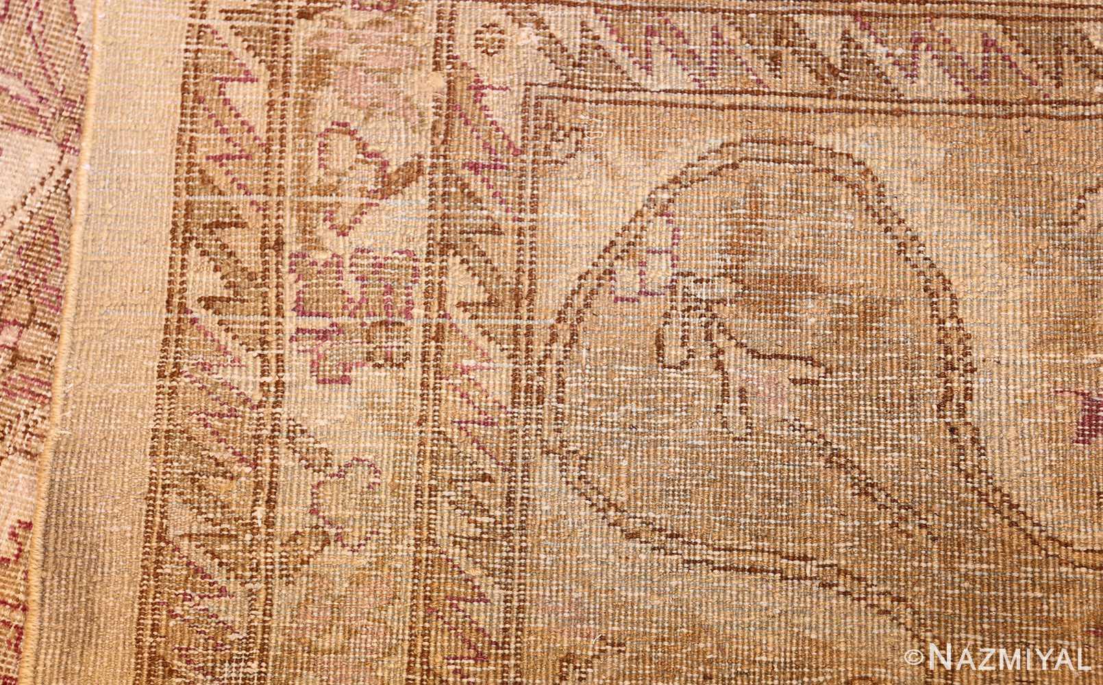 ivory background antique indian amritsar rug 47438 weave Nazmiyal