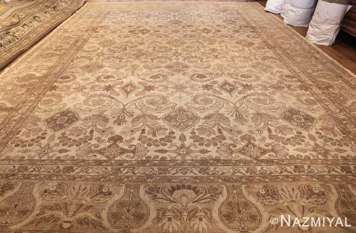 ivory background antique indian amritsar rug 47438 whole Nazmiyal