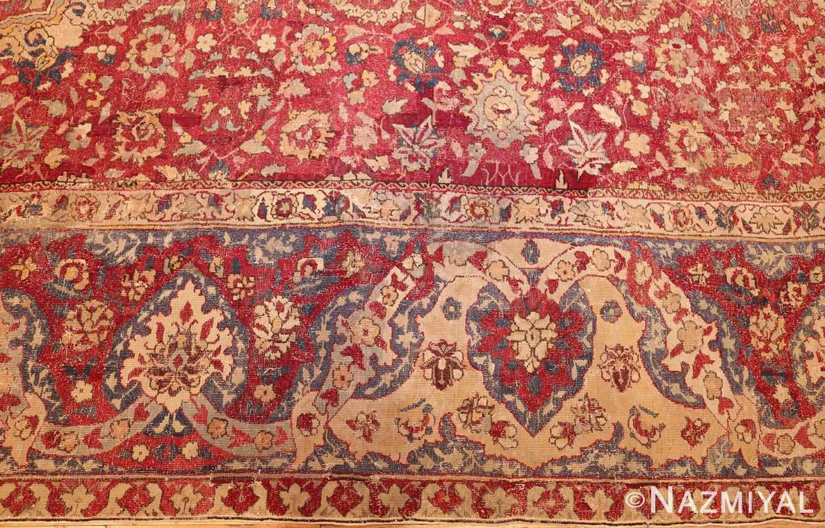 large antique 17th century mughal gallery carpet 47597 border Nazmiyal