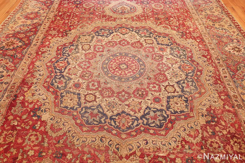 large antique 17th century mughal gallery carpet 47597 field Namziyal