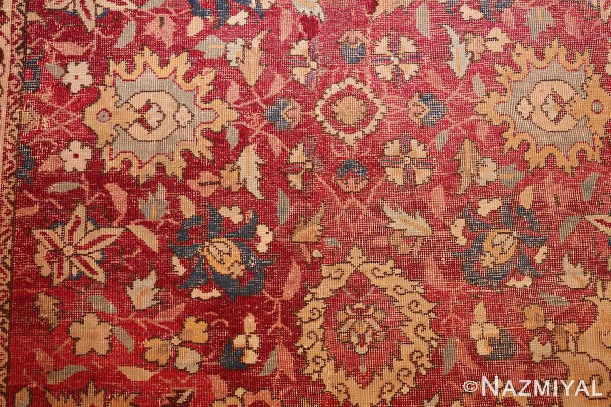 large antique 17th century mughal gallery carpet 47597 flowers Nazmiyal