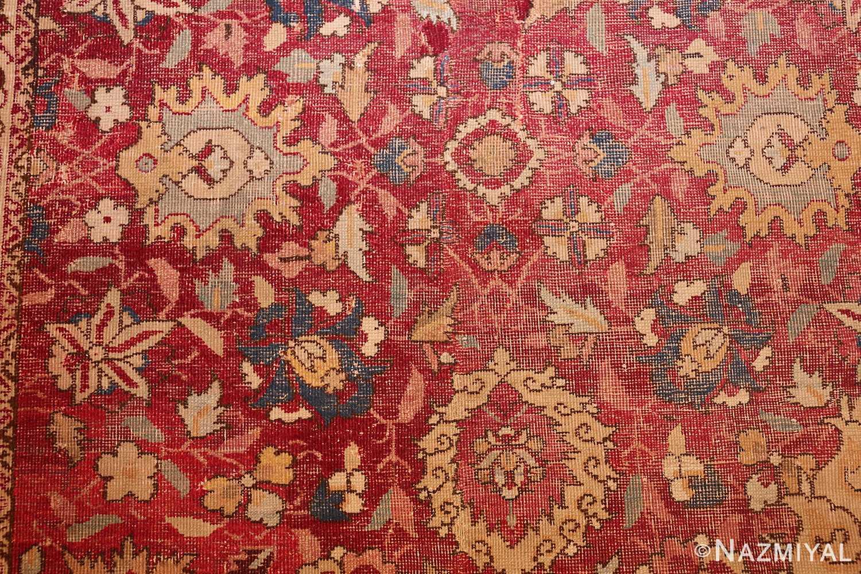 large antique 17th century mughal gallery carpet 47597 flowers Nazmiyal