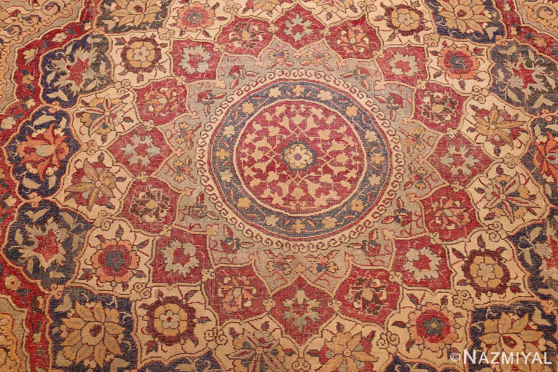 large antique 17th century mughal gallery carpet 47597 medallion Nazmiyal