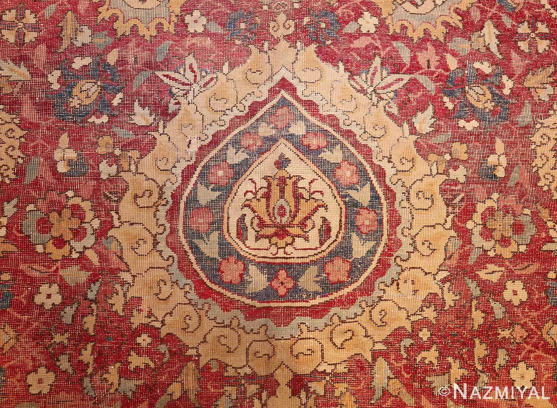 large antique 17th century mughal gallery carpet 47597 peony Nazmiyal