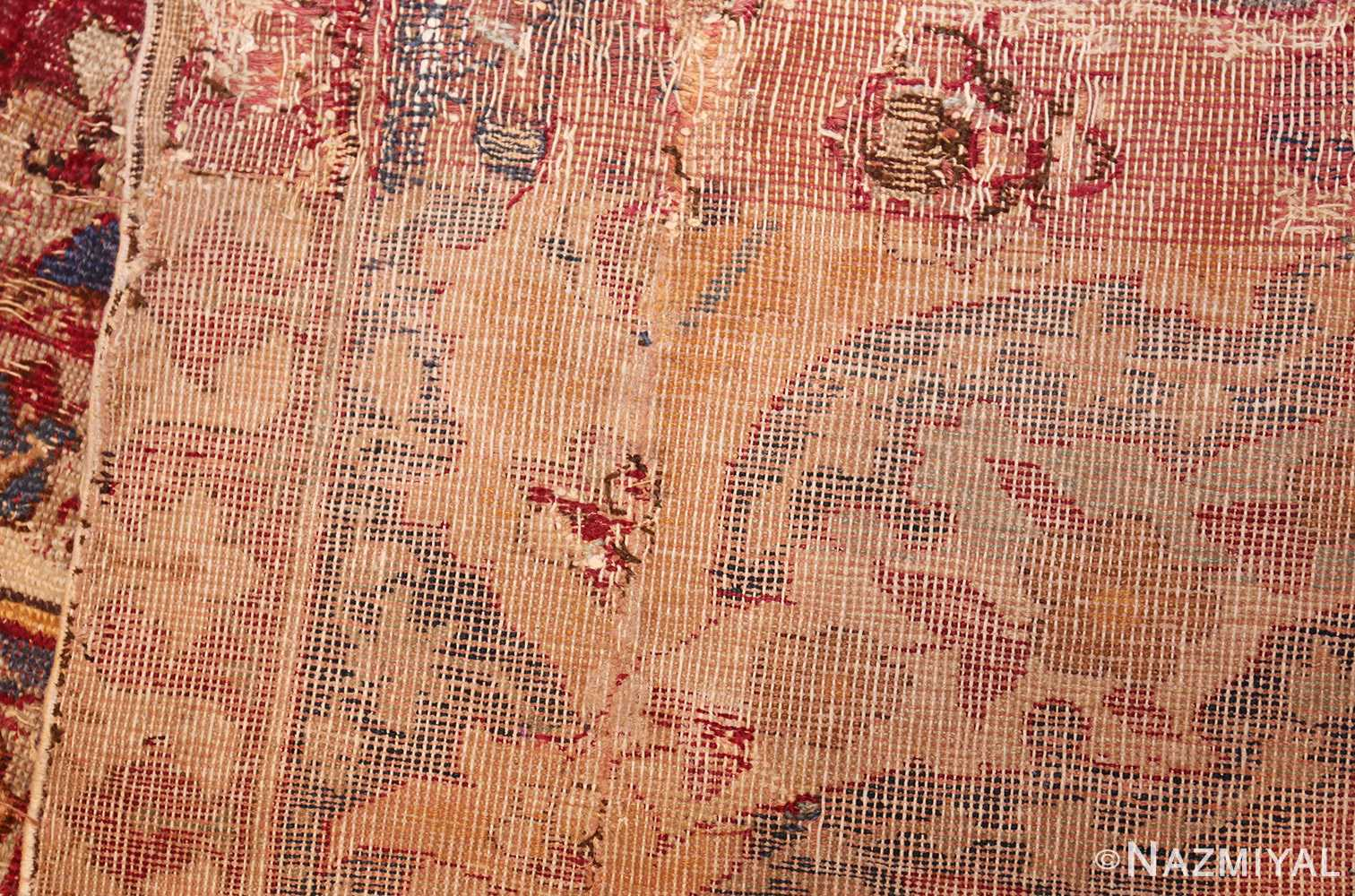 large antique 17th century mughal gallery carpet 47597 weave Nazmiyal