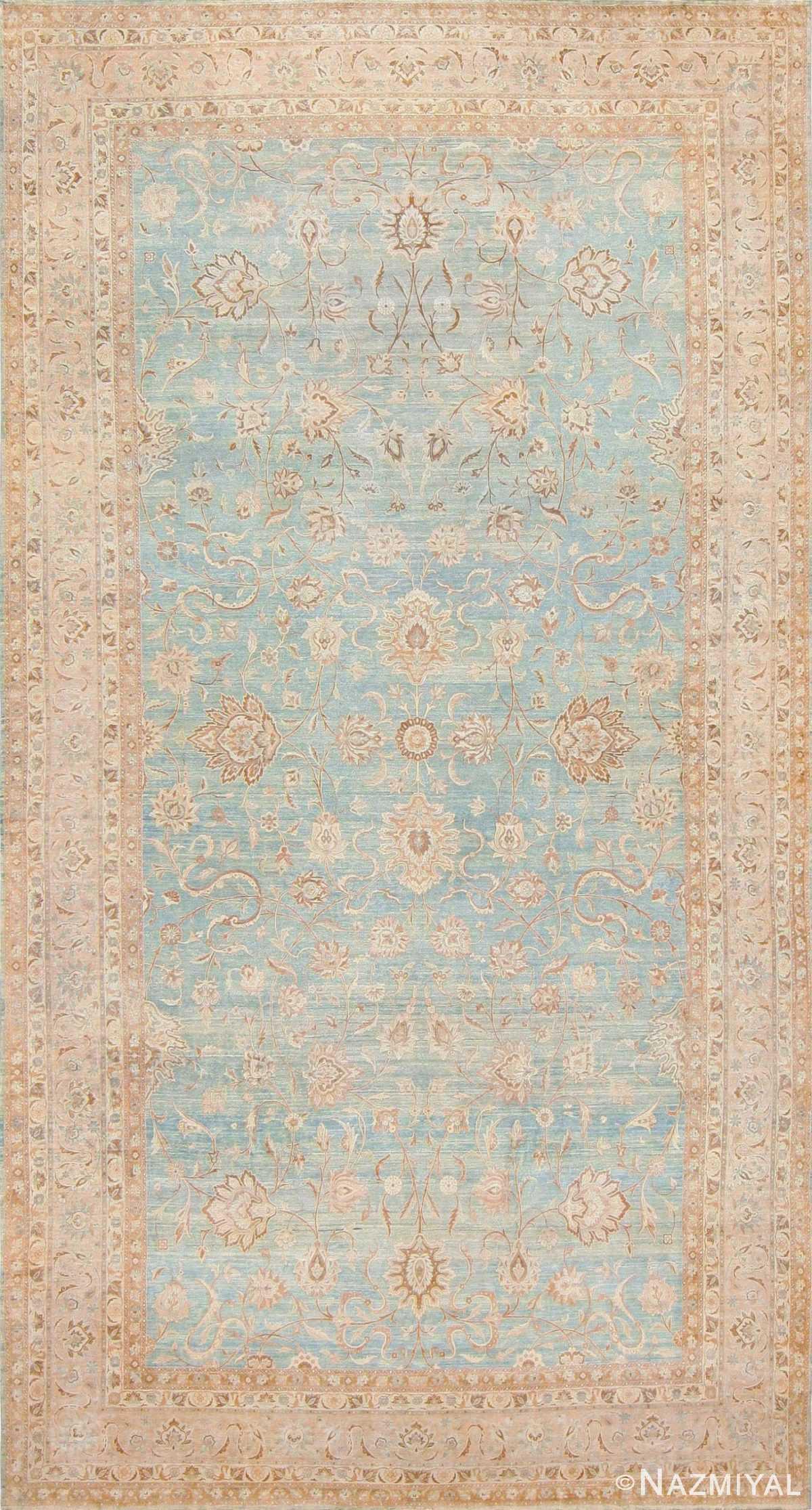 Large Antique Sky Blue Persian Kerman Carpet 46979 Nazmiyal