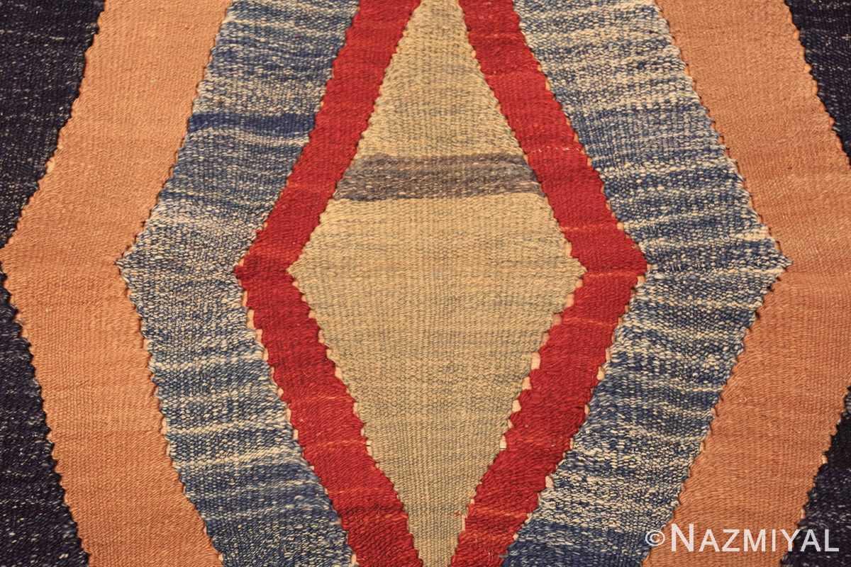 vintage persian tribal gashgai kilim 47622 center Nazmiyal