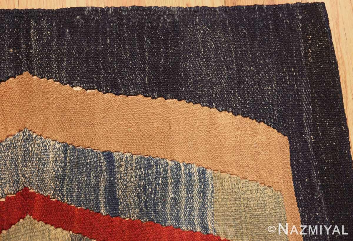vintage persian tribal gashgai kilim 47622 corner Nazmiyal