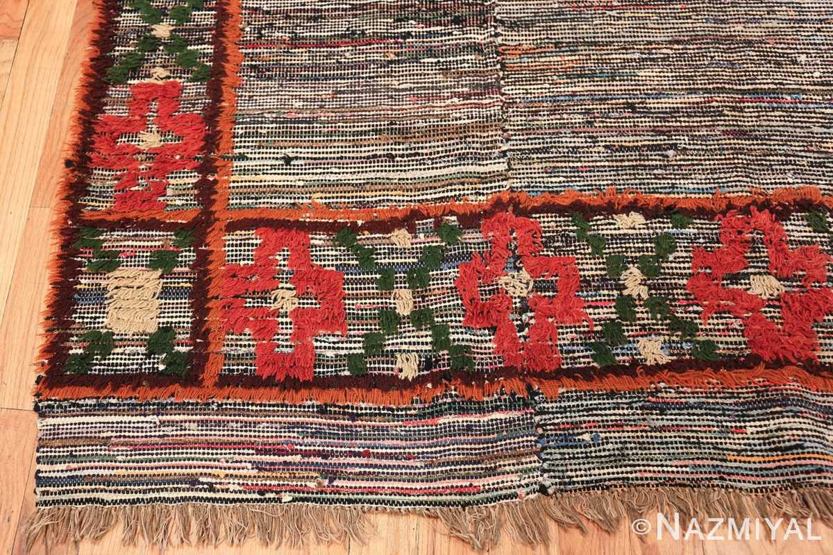 vintage swedish rug 47645 corner Nazmiyal