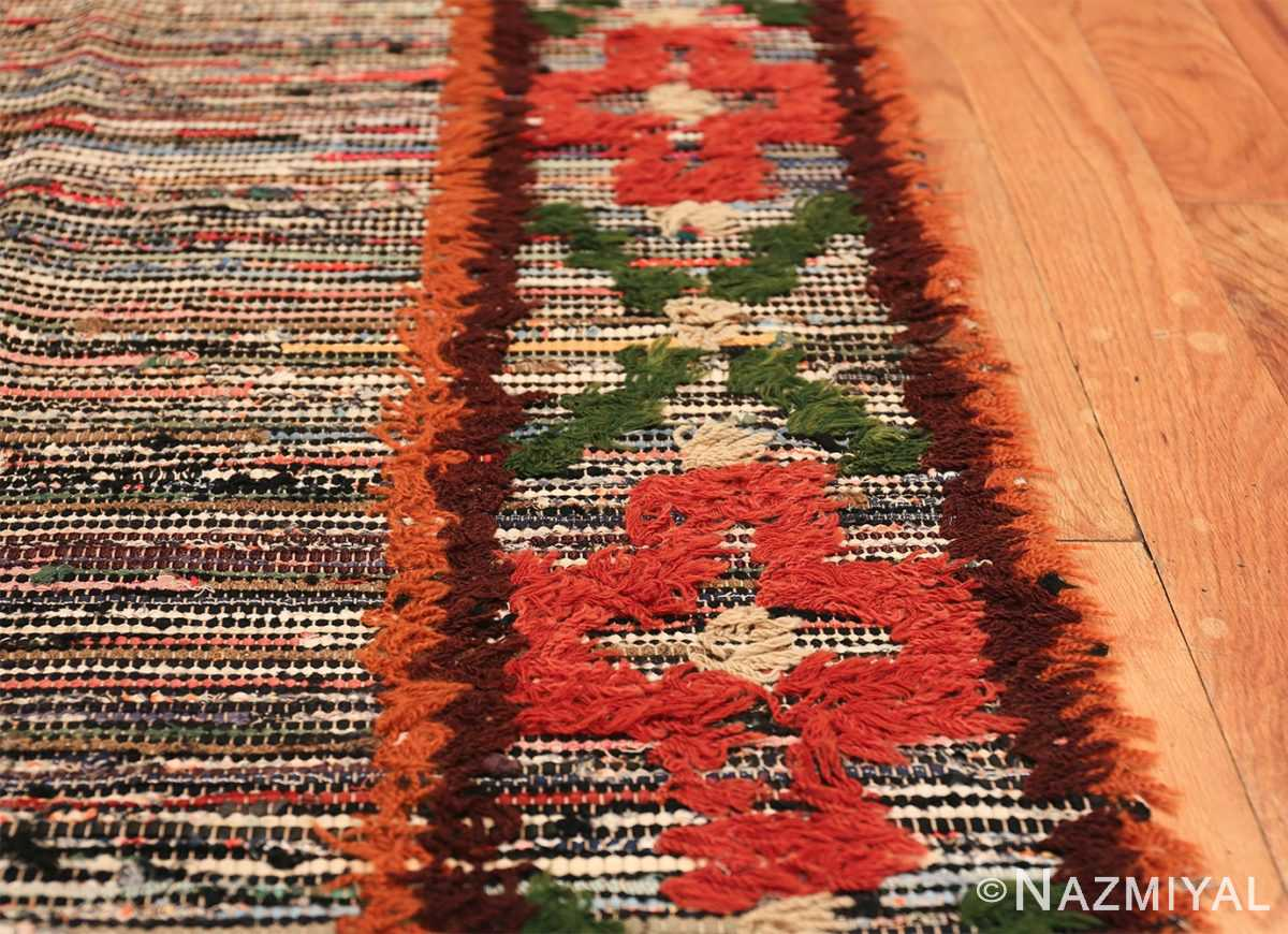 vintage swedish rug 47645 lines Nazmiyal