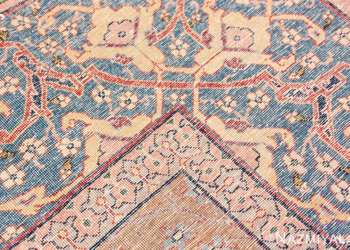 Weave detail Antique Persian Tabriz rug 47432 by Nazmiyal