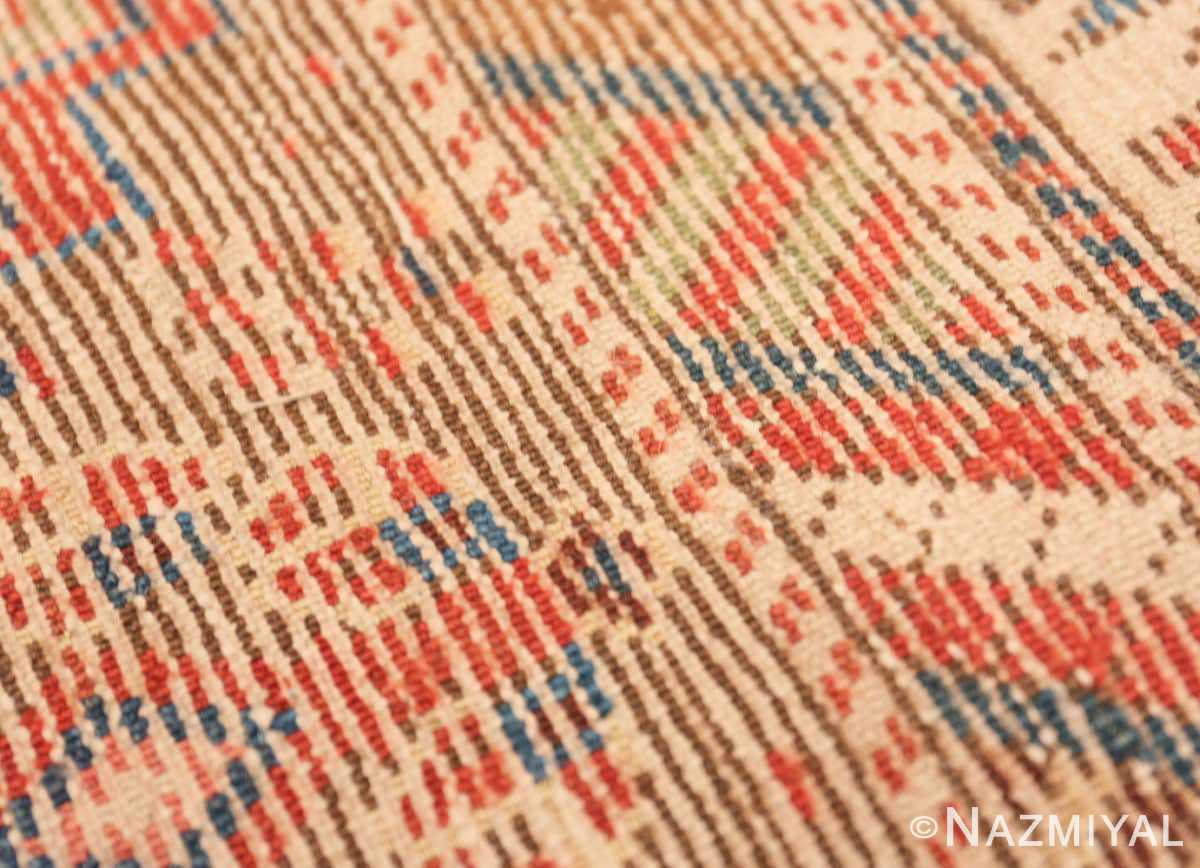 Weave detail Tribal Antique Caucasian Kazak runner rug 47653 by Nazmiyal