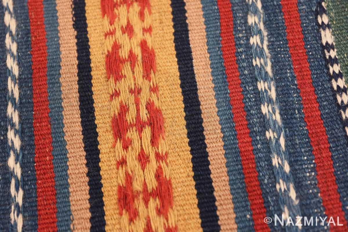 Weave detail Vintage Persian Gashgai tribal rug 47620 by Nazmiyal