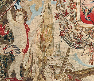 Antique 17th Century Flemish Tapestry from Brussels 3299 nazmiyal