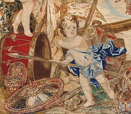 Antique Seventeenth Century Flemish Tapestry 2399 nazmiyal