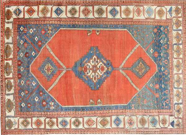 Extra Large Antique Persian Bakshaish Rug by Nazmiyal