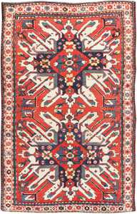 Antique Eagle Kazak Rug 47608 Detail/Large View