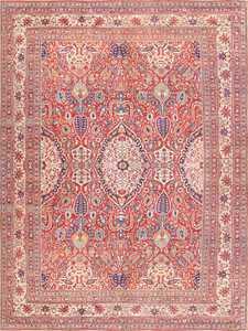 Fine Antique Persian Silk Heriz Carpet 47239 Detail/Large View