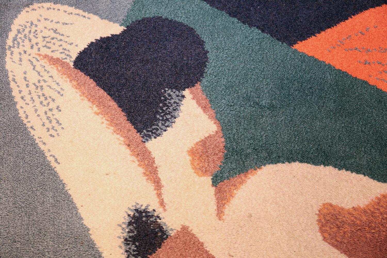 vintage scandinavian rug by rené magritte 47671 lady Nazmiyal