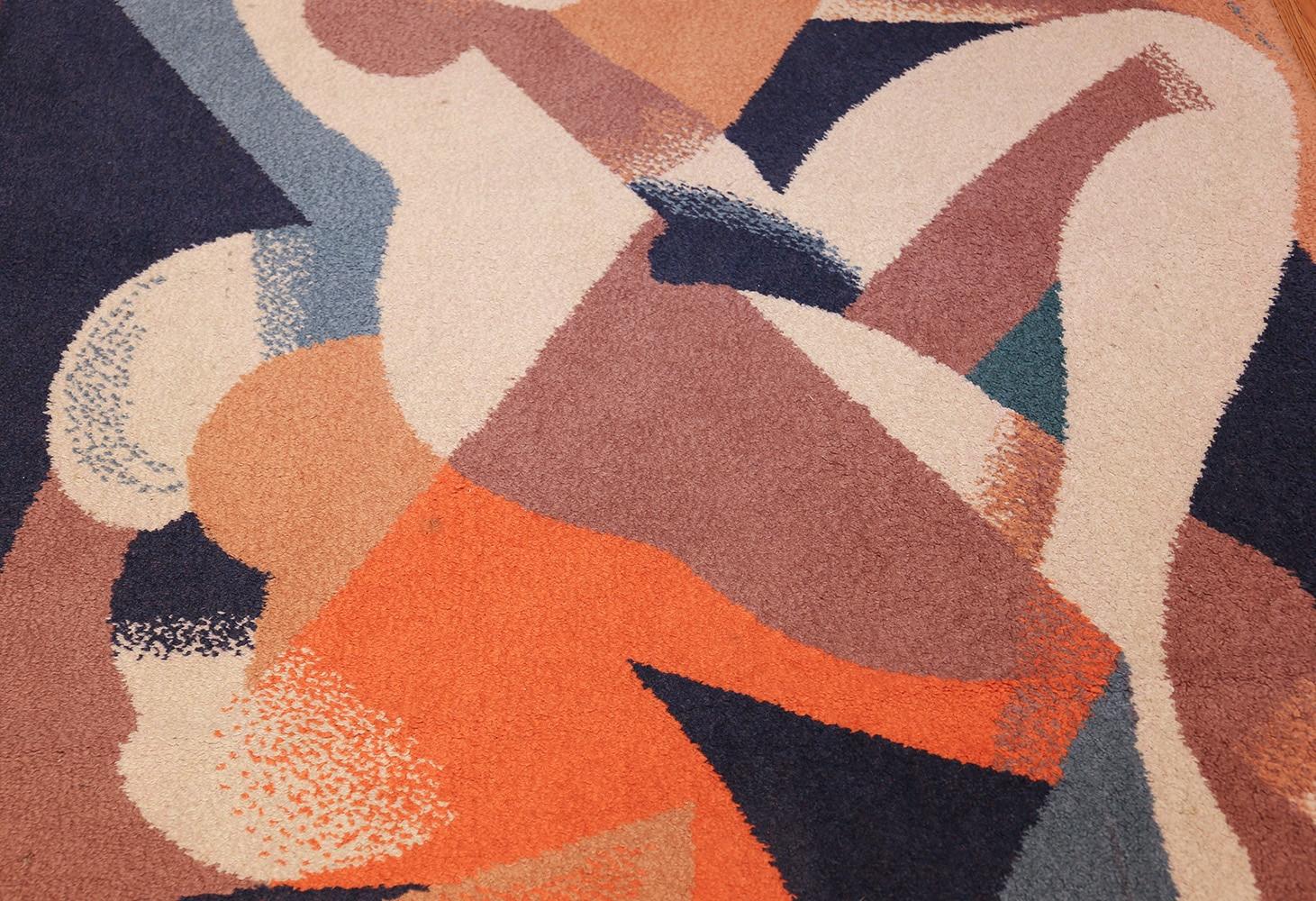 vintage scandinavian rug by rené magritte 47671 legs Nazmiyal