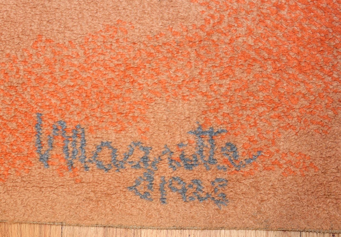 vintage scandinavian rug by rené magritte 47671 signature Nazmiyal