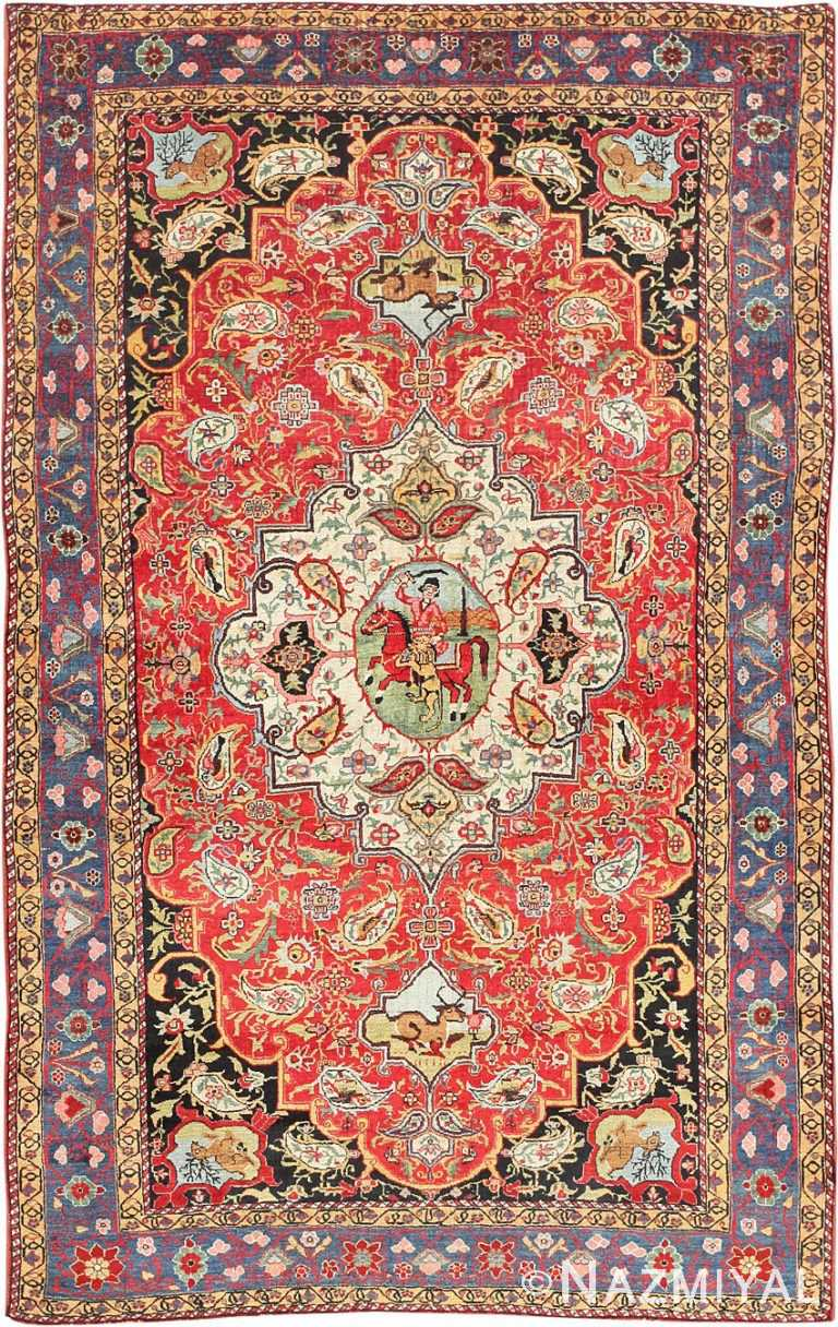 Antique Persian Bakhtiari Rug 47644 Nazmiyal