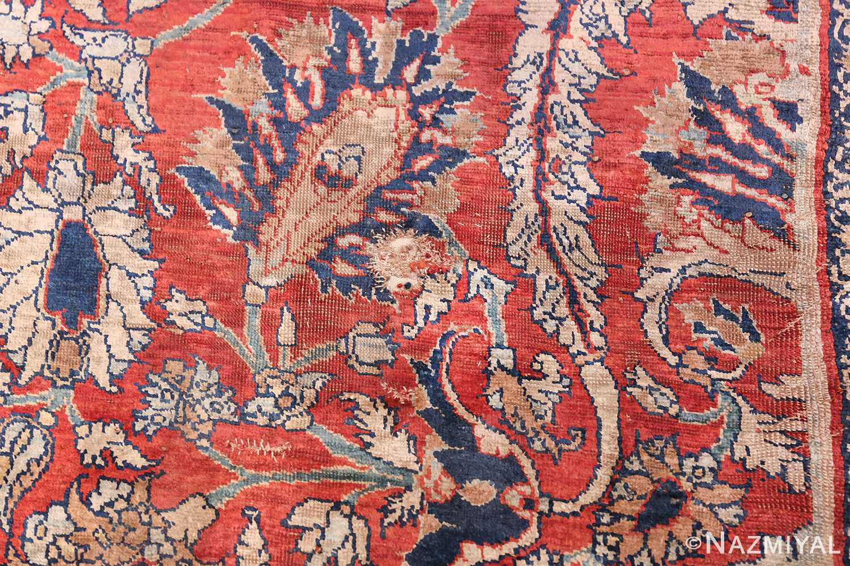 Antique Persian Silk Heriz Carpet 47239 Blue Buteh Nazmiyal