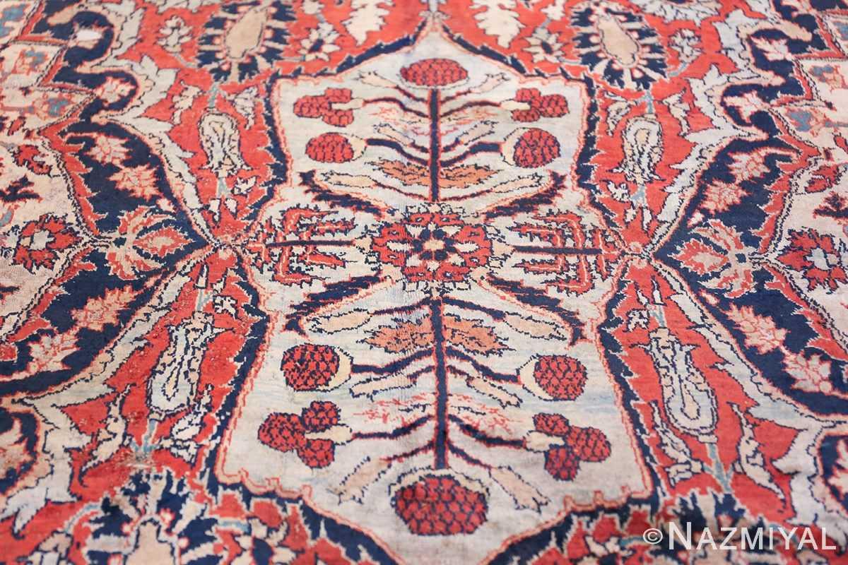 Antique Persian Silk Heriz Carpet 47239 Light Blue Nazmiyal